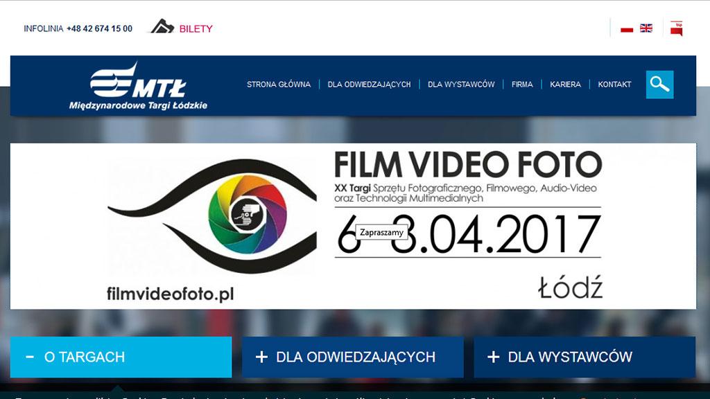 Targi Film Foto Video - Łódź, 6-8 kwietnia 2017